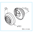 AE GBE 45/120 - elektromos vezérlésű elszívóelem