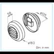 AE HYGRO GBE 5/40/75 - páratartalom vezérelt elszívó elem