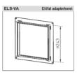 ELS-VA - Előfalas adapterkeret