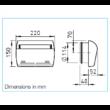 ZLA 125 W - 22m3/h - komplett fali légbeeresztő konstans 22 m3/h térfogatárammal